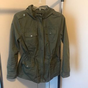 New Look green cargo jacket medium